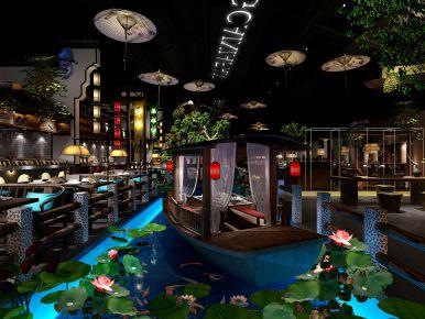 中山南区湘菜馆主题餐厅装修设计