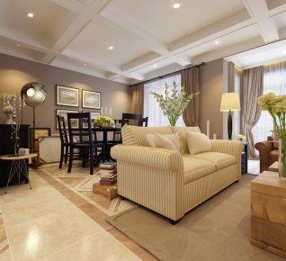 西安华远海蓝城 简约美式三居室装修效果图