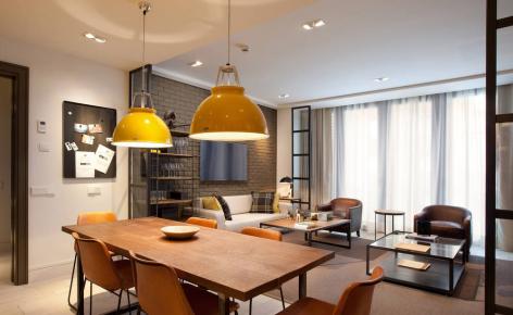 长沙现代简约两室个性风装修效果图欣赏