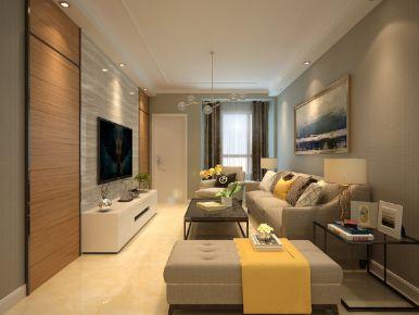 暖暖的新家 二居室现代风格装修效果图