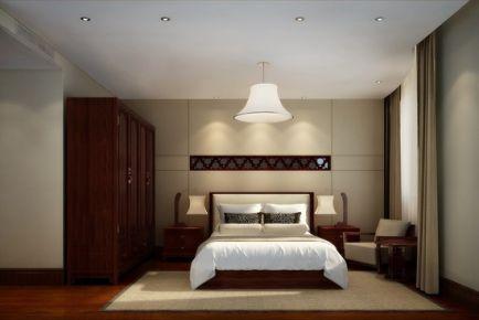 呼和浩特122平中式风格三居室装修