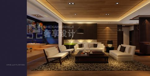 哈尔滨绿荫芳邻 四居室欧式风格装修设计