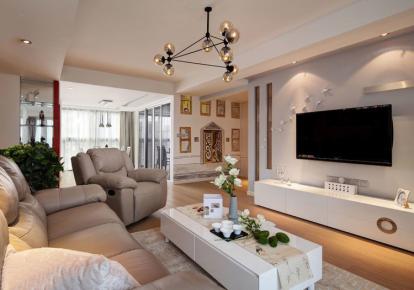 长沙三居室简约风装修效果欣赏