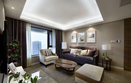 天津现代生活 三居室现代风格装修效果图
