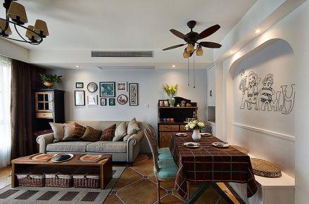 天津时尚小家 二居室美式装修效果图
