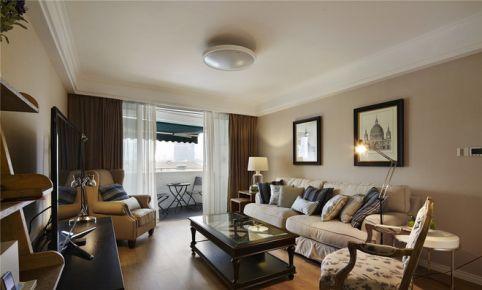 天津美橙 三居室美式装修设计效果图