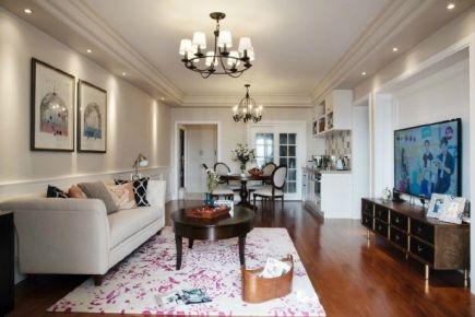 116平米现代风格三居室装修效果图