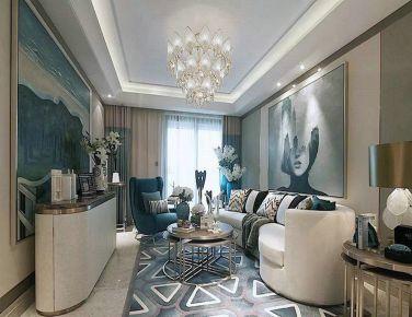天津现代风格三居室装修设计效果图