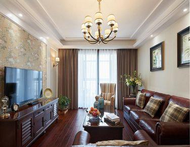 自在随意的美式风格三居室装修效果图