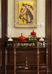 奢华复古三居室装修风格效果图