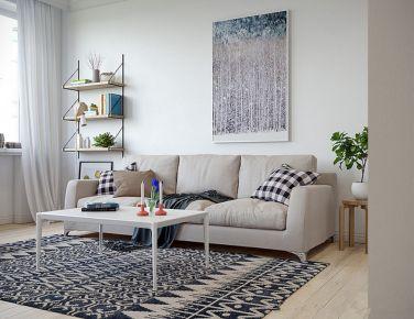 在云端 二居室现代风格装修效果图欣赏