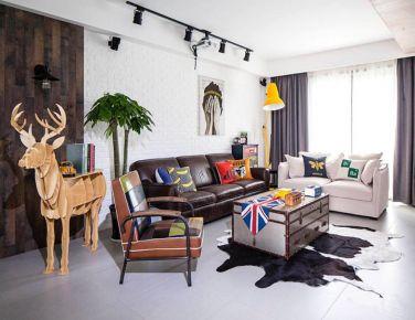 现代混搭色调 二居室装修设计欣赏