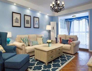 美式混搭 四室家庭装修设计