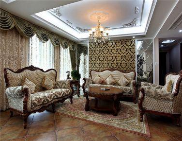传统美式风格  三居室装修设计