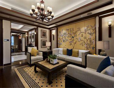 新中式风格  三房装修设计效果图