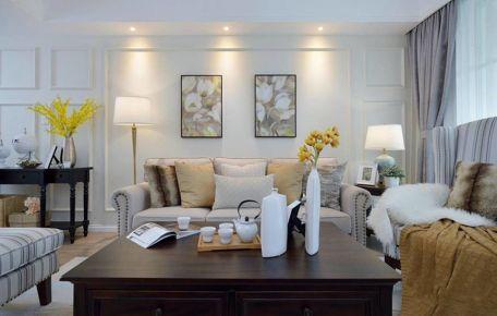 淡淡的简约美式 两房装修设计效果图