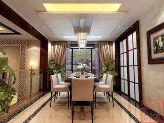 洪湖公园精装修 中式三房装修设计欣赏