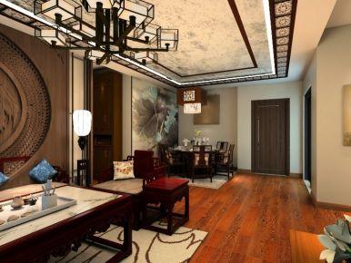 桦林彩云城中式风格 三房装修设计