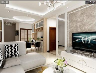 中山现代简约风格三房装修设计