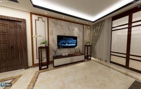 中山中式风格四房装修设计欣赏