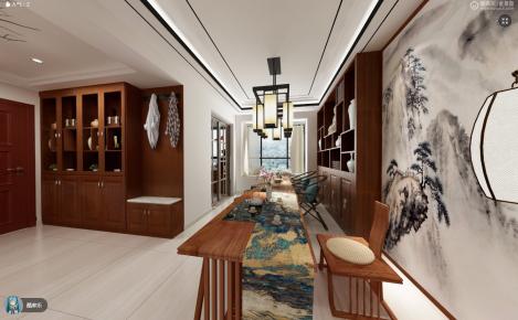 中山中式风格三房装修设计欣赏