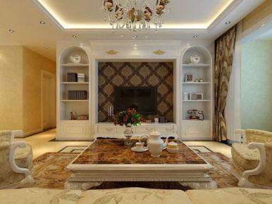 天津欧式风格二居室装修效果图