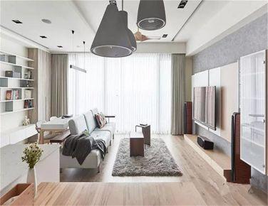 清雅摩登 现代风格三房装修设计