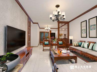 南宁中式风格三房装修设计 振华苑中式风格家庭装修