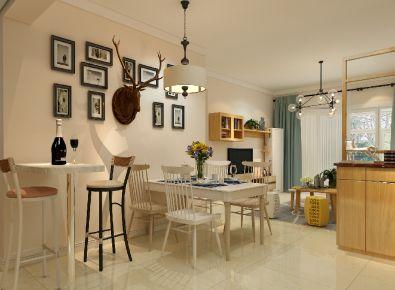 南宁现代风格两房装修设计 红日山湖
