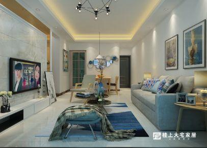 江悦蓝湾雅居-现代简约风格两房装修设计