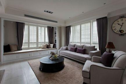 现代简约风格三房装修欣赏-无锡爱家金河湾