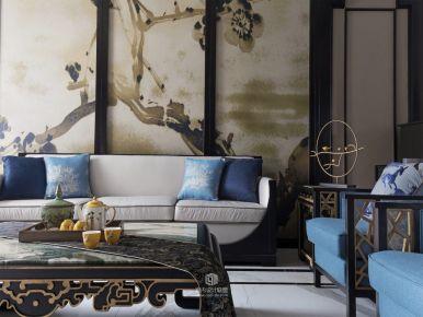 郑州中式风格四房装修效果图 雅居乐国际花园