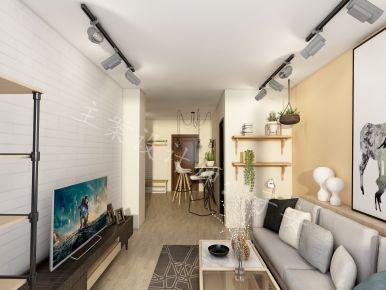 乌鲁木齐北欧风格两房装修效果图 中豪润园
