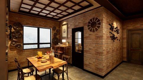 济南美式复古风格两房装修效果图