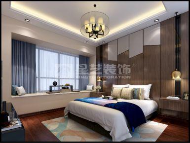 东莞中式风格三居室装修效果图 富春山居