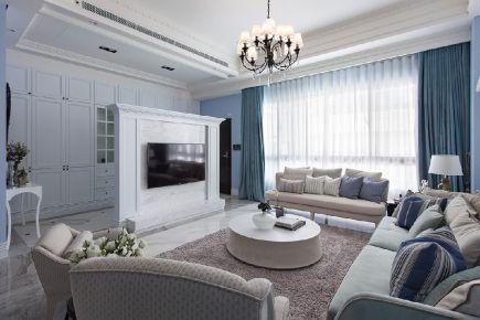 南通现代风格四居室装修设计效果图 长江紫园