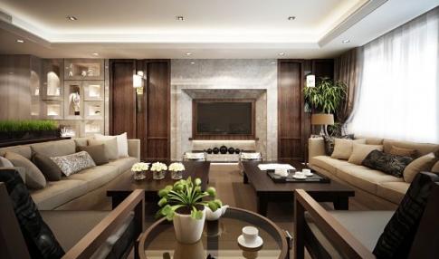 北京世纪城 三居室现代风格装修效果图欣赏