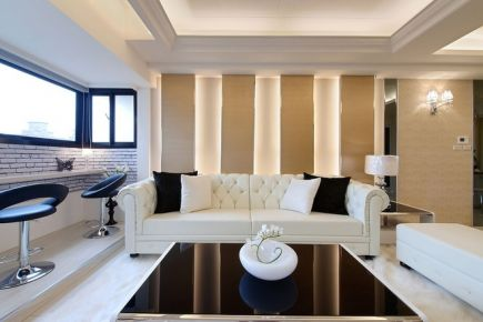 140平米现代时尚装修设计案例 重庆锦上华庭