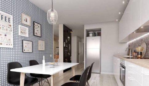 60平米一居室北欧风格装修设计  合肥北城世纪城