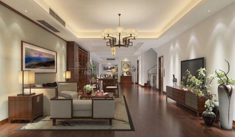 大连四居室中式风格装修设计