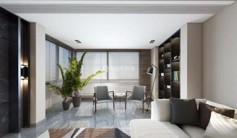 重庆长嘉汇|三居室160平现代极简风格效果图