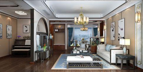 合肥三居室新中式风格装修效果图(名门湖畔)