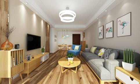 烟台开发区万达 简约风格二居室装修效果图