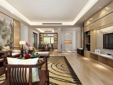 烟台广元天际-现代风格三居室装修效果图