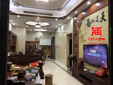 中式风格四房装修设计案例 佛山帝景蓝湾