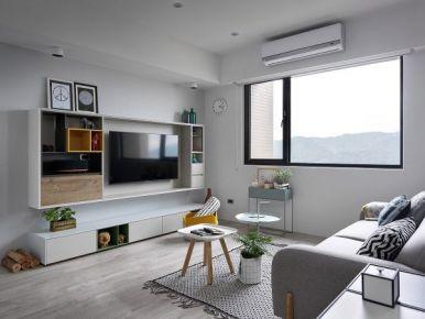 160㎡三居室现代简约风格装修案例 常州弘阳广场