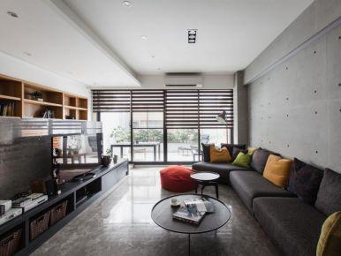 130㎡新中式风格三居室装修效果图 常州路劲城