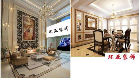 欧式风格复式楼装修设计案例  中山东凤远洋