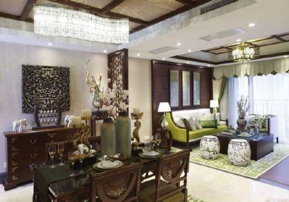 长沙新中式大三居装修设计欣赏