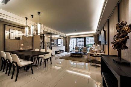 时尚简约的现代三居室装修设计效果图